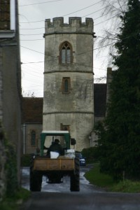 Barton Church and Tractor