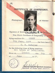 Christopher Hebeler, RAF bomber pilot, missing from operations over Norway, 1915 - April 1940