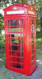 Refurbished telephone box